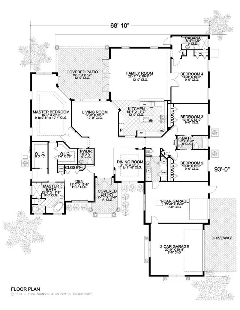 Home plans detail for Large 1 story house plans