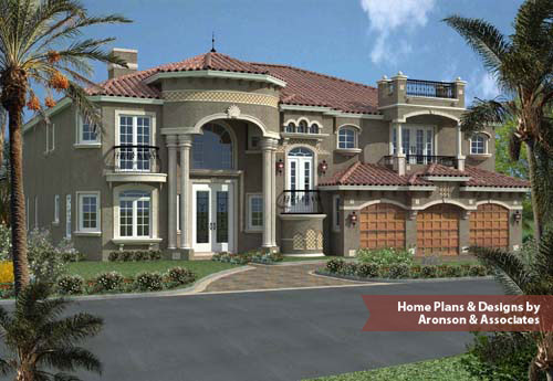 ... Florida Spanish Mediterranean Style Luxury Home Features Five Bedrooms,  ...
