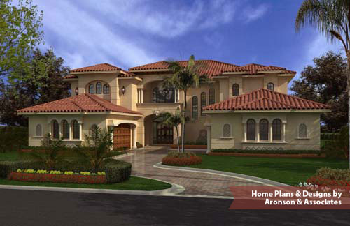 Home plans house plans home designs aronson estates for Two story florida house plans